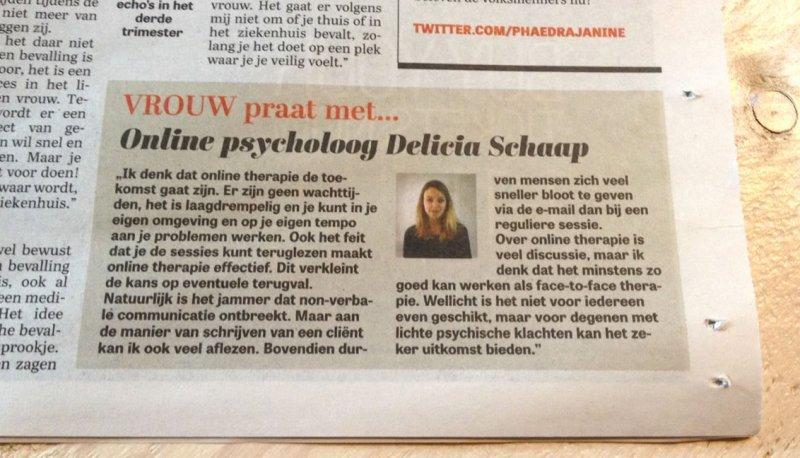 Telegraaf Licia online psycholoog